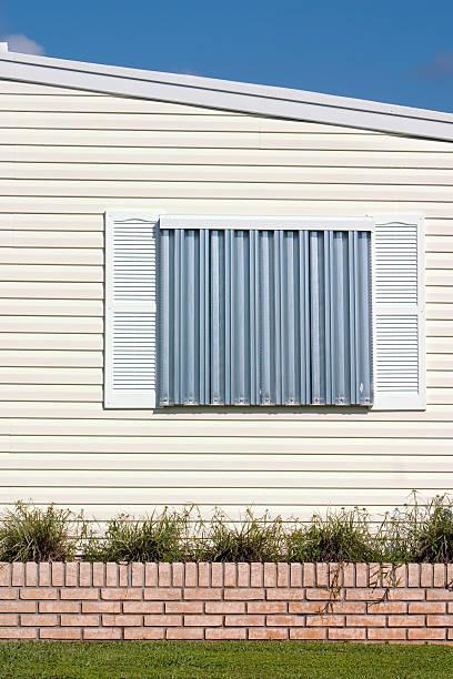 Uragano protezione pannelli - foto stock