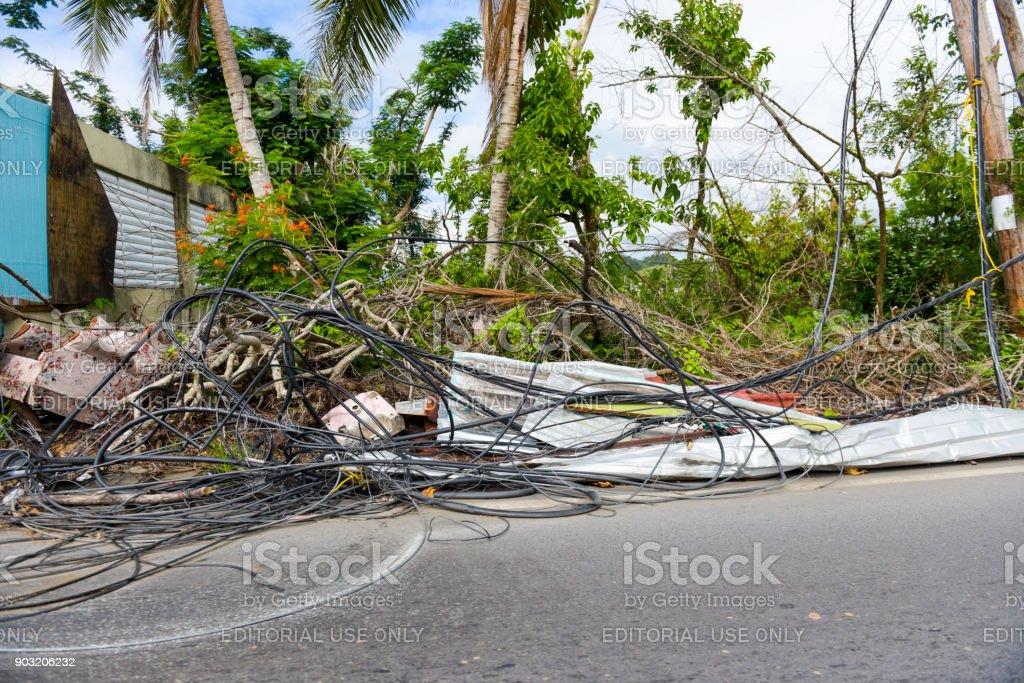 Hurrikan verwüstet Nachbarschaft – Foto