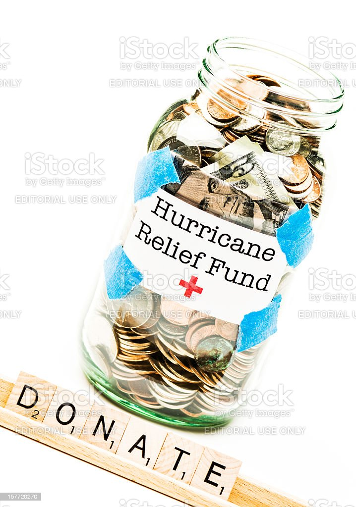 Hurricane Relief Fund royalty-free stock photo