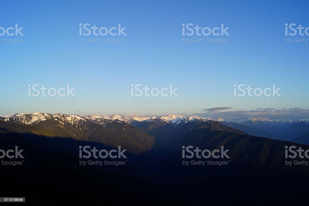 Hurricane Ridge Sunset stock photo