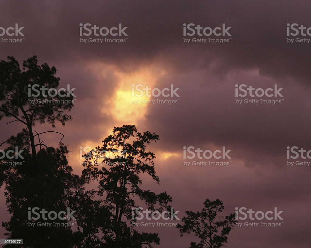 a sunset as Hurricane Rita comes in to Houston, Texas