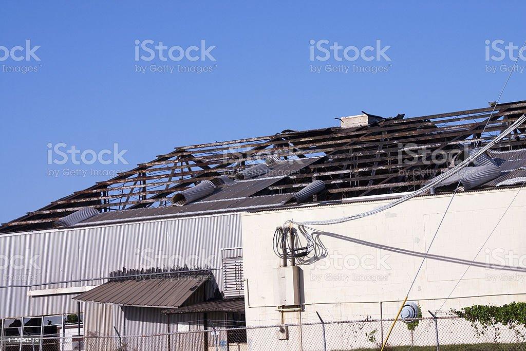 Hurricane Roof Damage stock photo