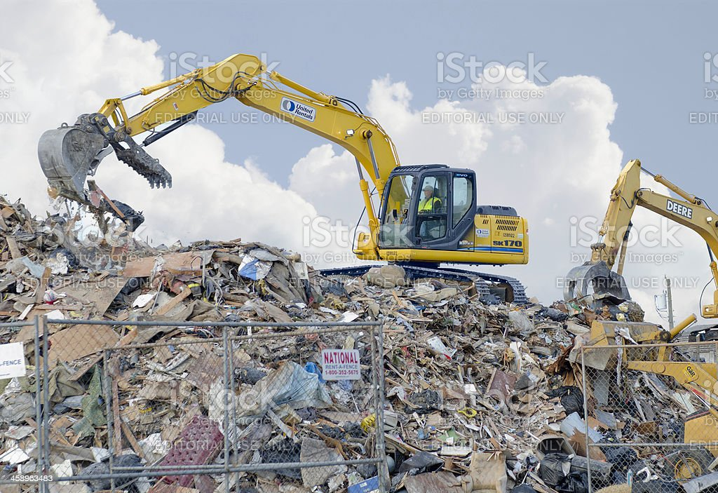 Hurricane Sandy Disaster Cleanup royalty-free stock photo