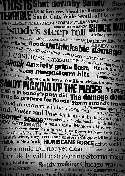 Hurricane Sandy Newspaper Headline Collage Please consider my light-box that contains several successful images in the