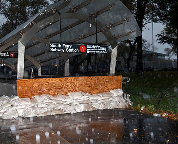 NEW YORK - Hurricane Sandy stock photo