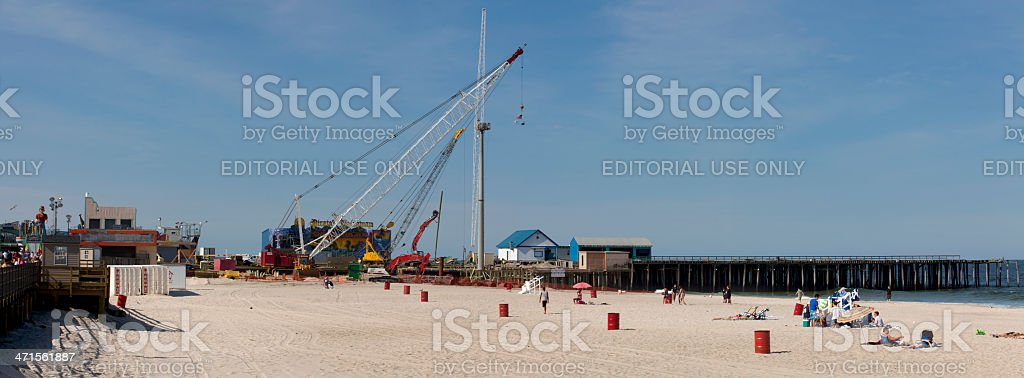 Hurricane Sandy Recovery in Seaside Heights, New Jersey stock photo