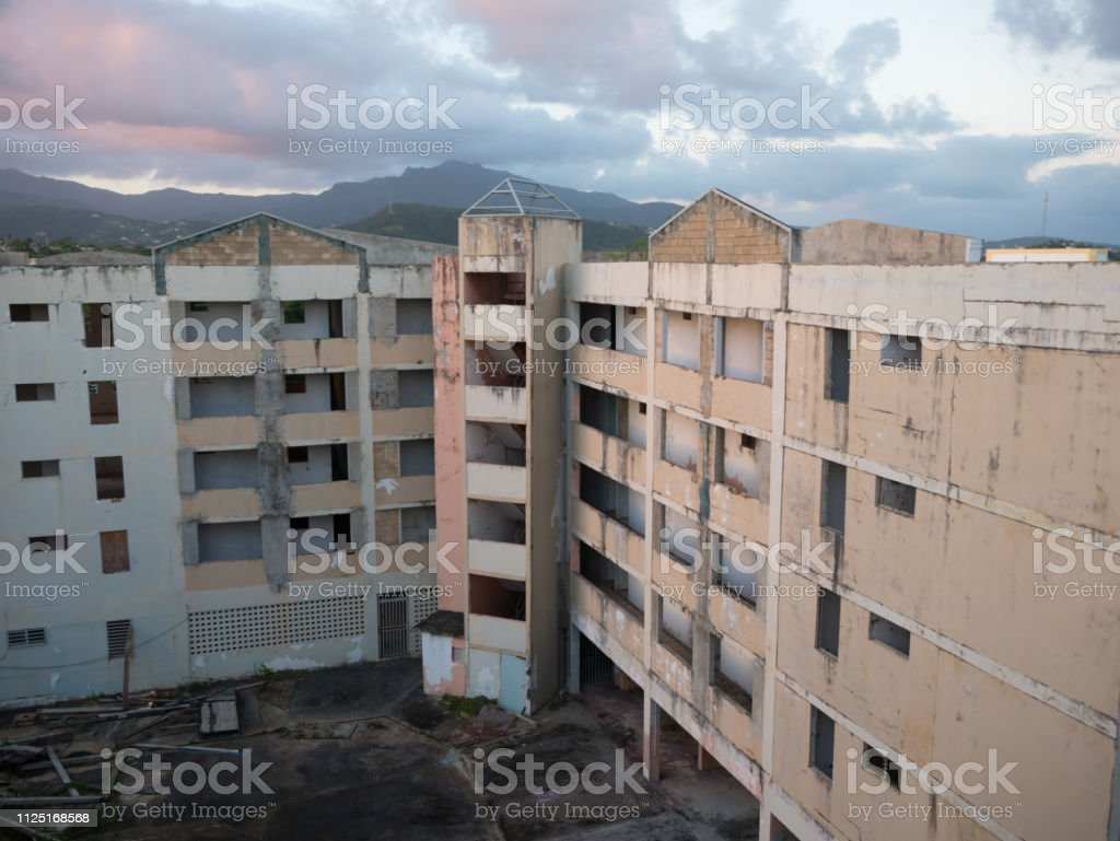 Hurricane Season Destruction Of Abandoned Buildings Near The Coast Weather Safety First Rebuilding The Community Ideas Stock Photo Download Image Now Istock