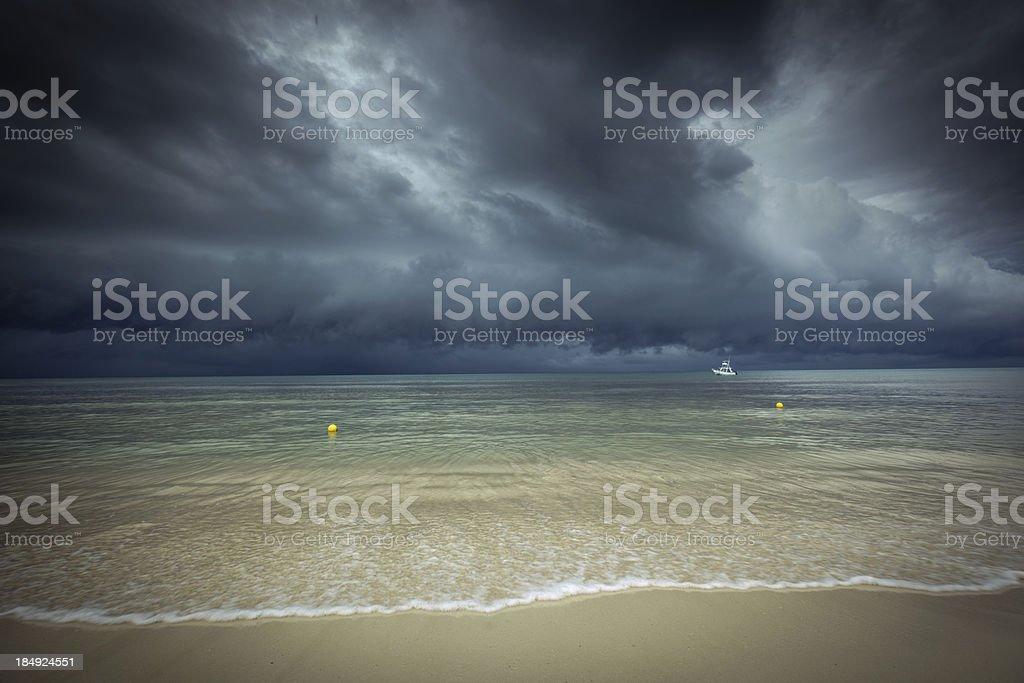 Hurricane Storm Season in Caribbean Sea stock photo