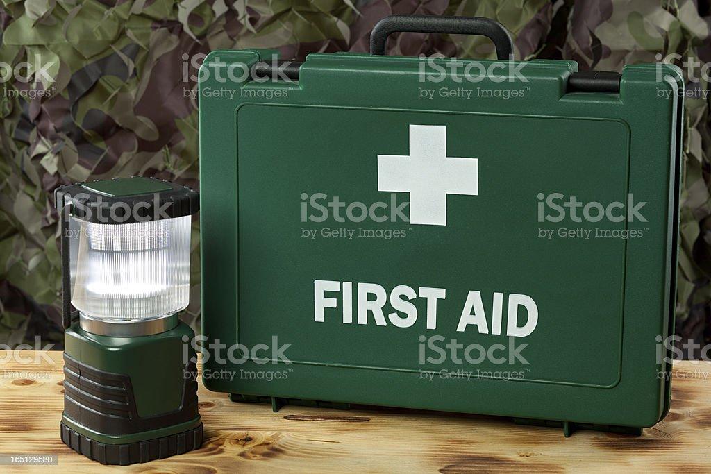 Hurricane survival kit stock photo