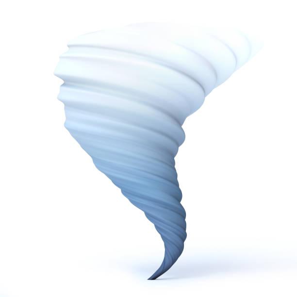 furacão tornado tufão vórtice twister processamento isolado ilustração 3d - tornado - fotografias e filmes do acervo