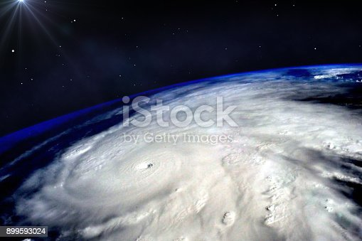istock Hurricane typhoon over planet Earth viewed from space. Elements of image are furnished by NASA. 899593024
