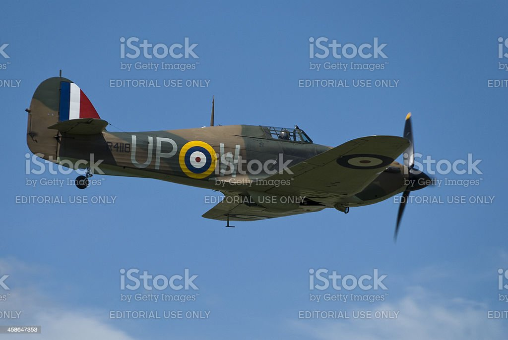 Hurricane World War 2 fighter aircraft stock photo