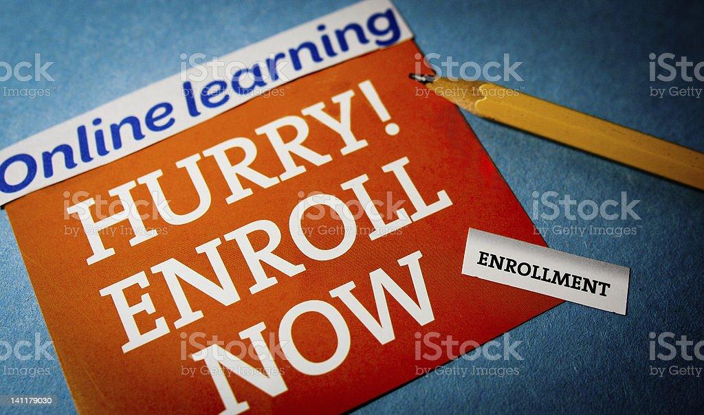 Hurry Enroll Now stock photo