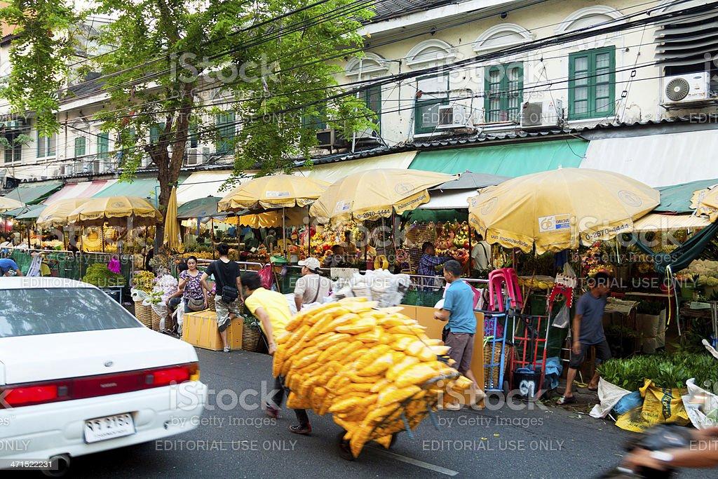Hurry over Pak Klong Flower market royalty-free stock photo