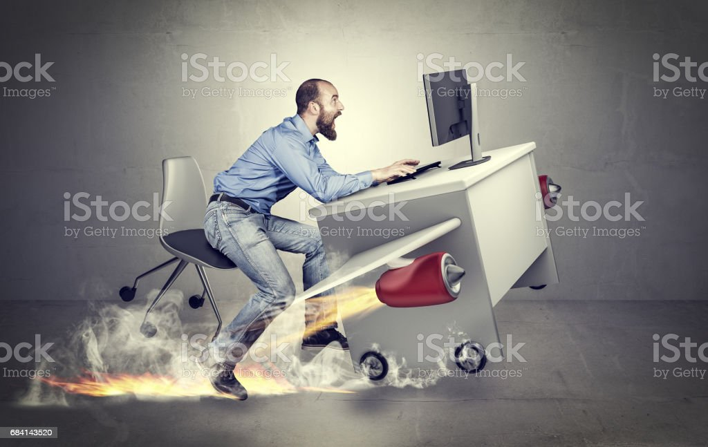 hurry to start stock photo
