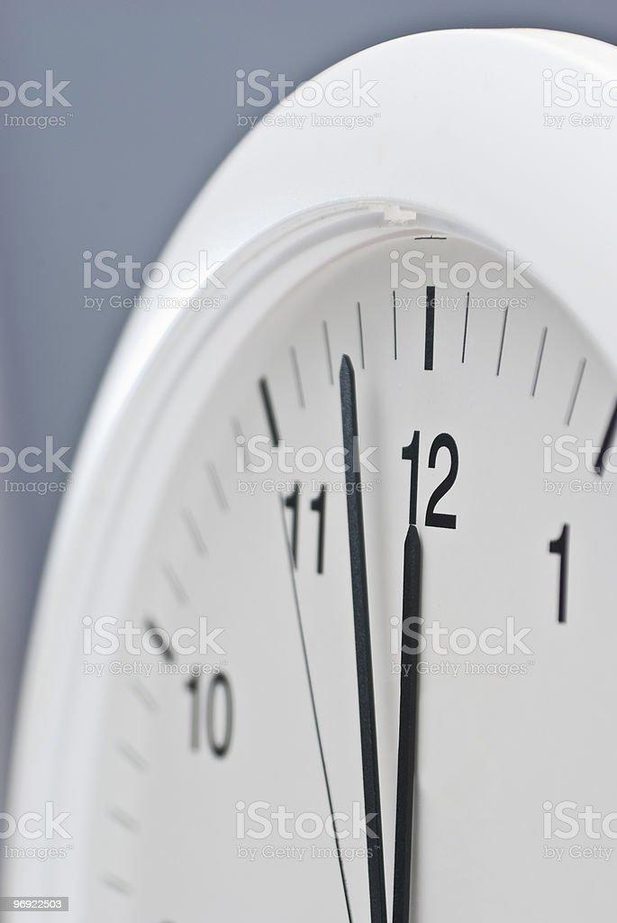 hurry up! 12 o'clock royalty-free stock photo