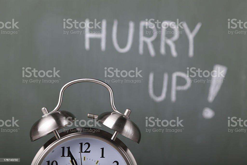 Hurry Up! royalty-free stock photo