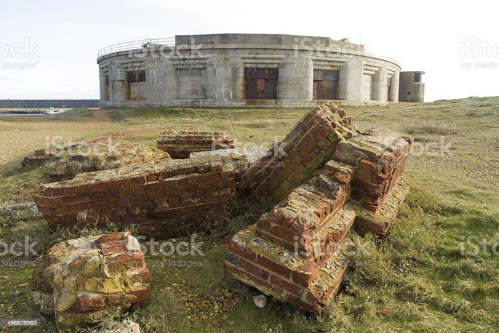 Hurst Castle, South face stock photo