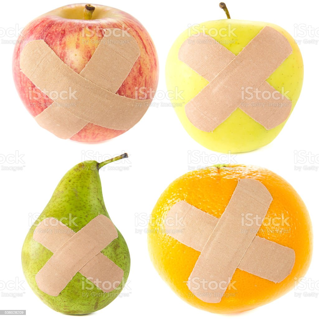 Hurt fruit stock photo