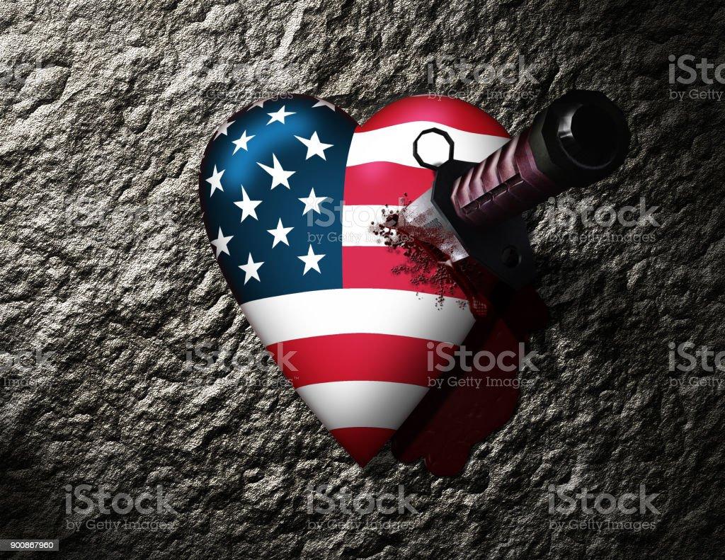 USA Hurt stock photo