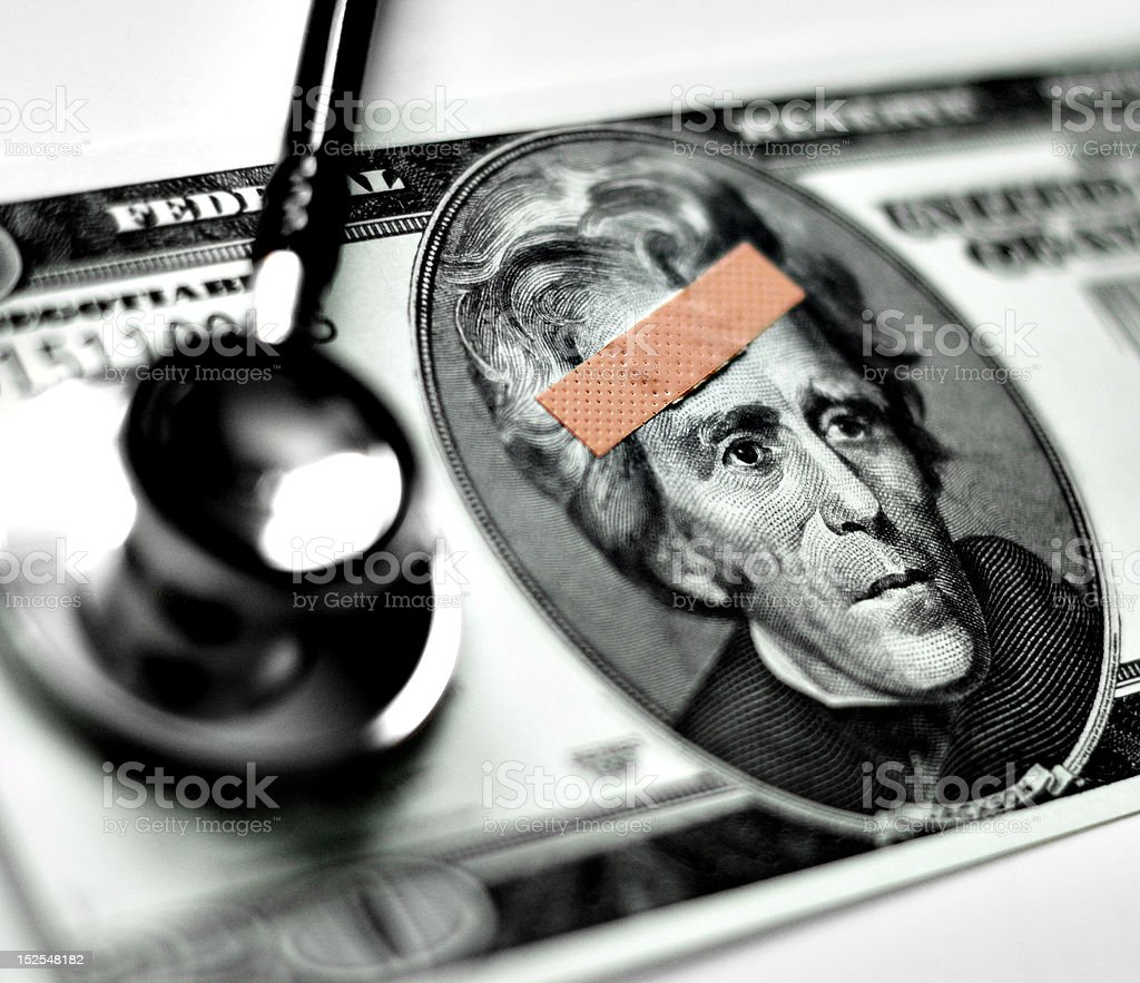 Hurting Money stock photo
