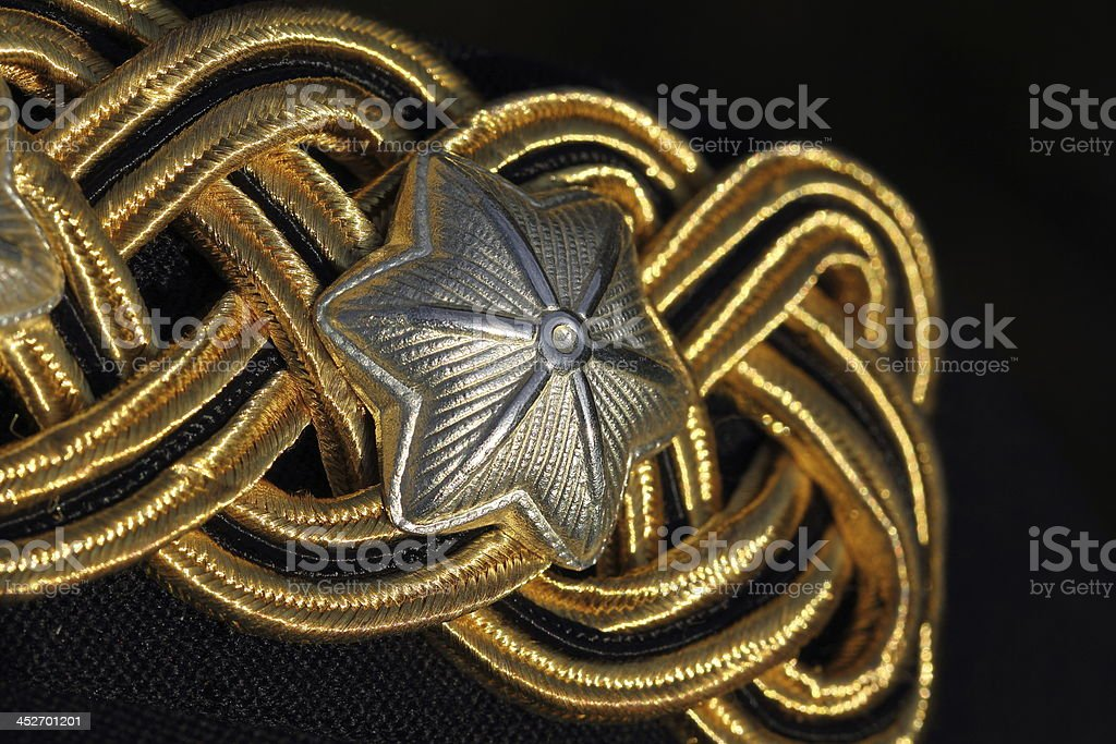 Husar cavalry officers dinner jacket uniform royalty-free stock photo
