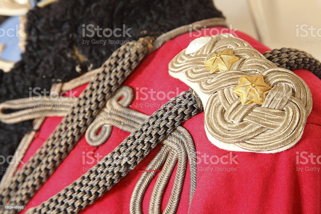Husar cavalry officers historic uniform stock photo
