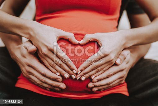 Husband and Pregnant Wife. Hugs. Belly. Happy Together. Relaxation. Sweet. Sofa. Happiness. Together on Couch. Love Each Other. Home. Motherhood. Tenderness. Resting. Birth. Parenthood. Domestic Life.