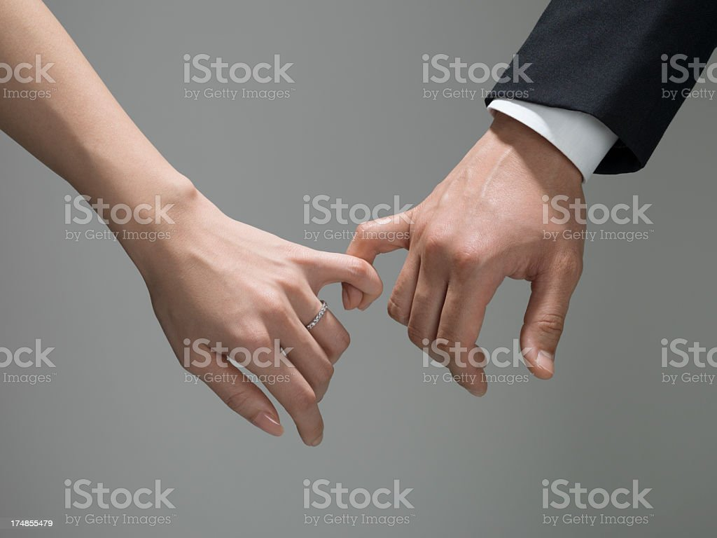 Husband and wife who seem to be fortunate stock photo