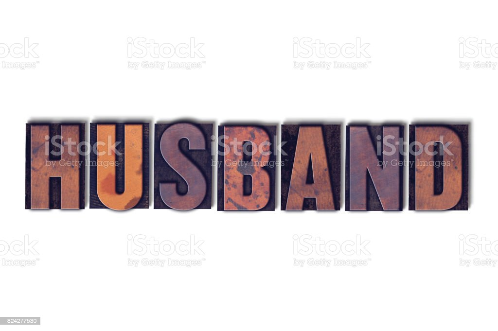 Husband Concept Isolated Letterpress Word stock photo