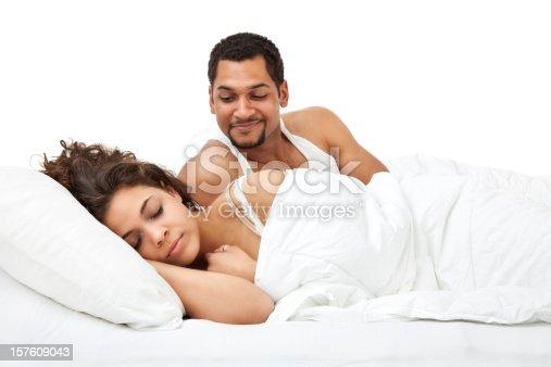 istock Husband Watching Wife Sleep 157609043