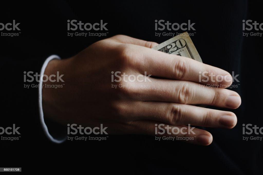 Hush Money stock photo