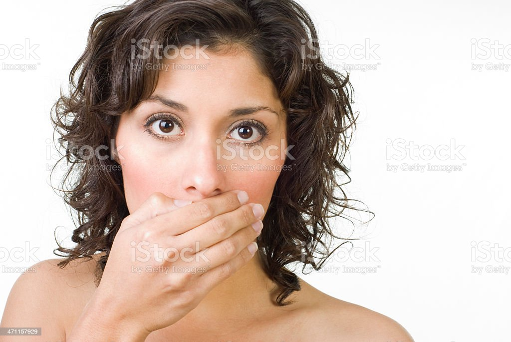 Hush royalty-free stock photo