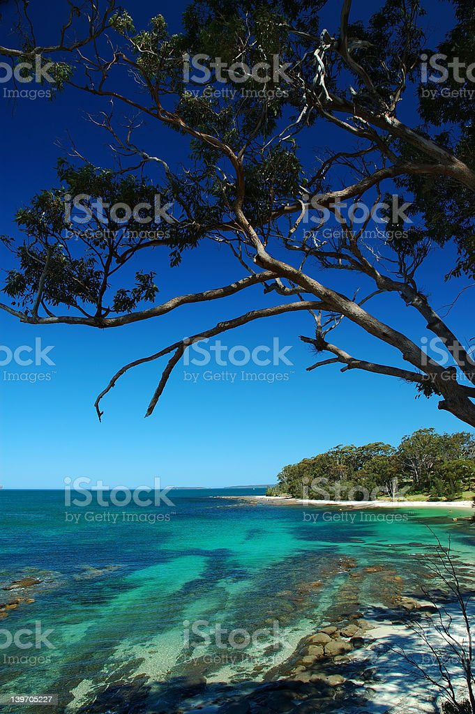 Huskisson beach at Jervis bay stock photo
