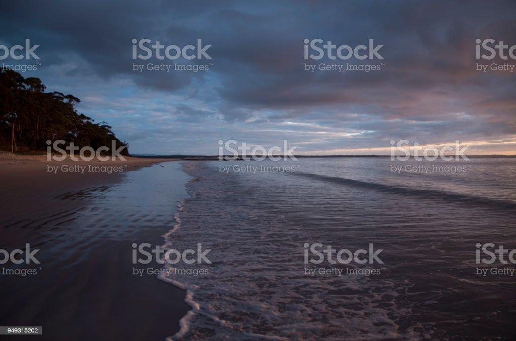 Huskisson beach NSW Australia stock photo