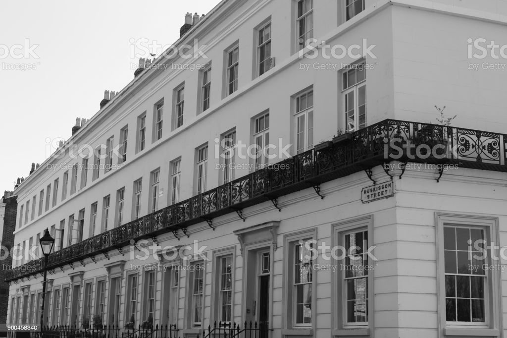 Huskisson Street Liverpool England stock photo