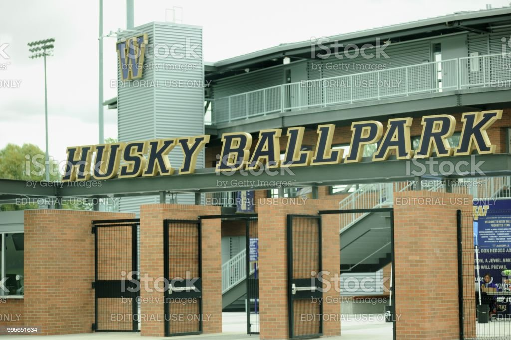Husky Ballpark stock photo