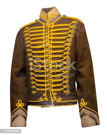 hussar uniform isolated on white background.
