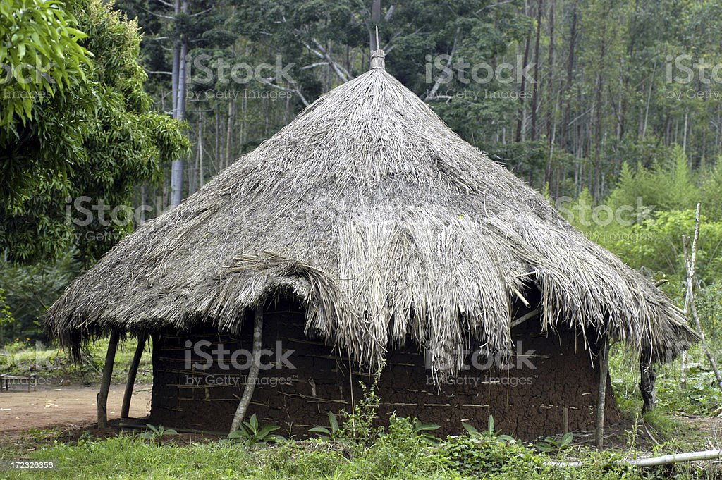 Hut in Africa royalty-free stock photo