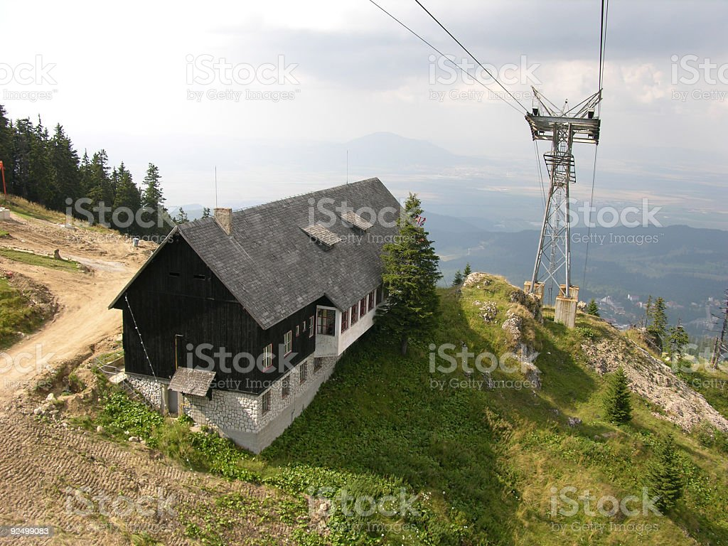 Hut In Mountains royalty-free stock photo