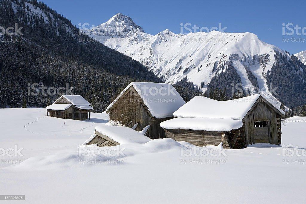hut in namlos royalty-free stock photo
