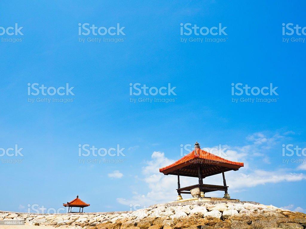 Hut of Sanur in Bali photo libre de droits
