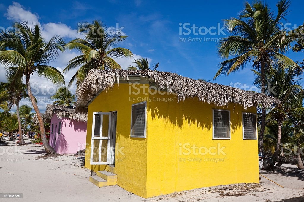 Hut on the Beach royalty-free stock photo