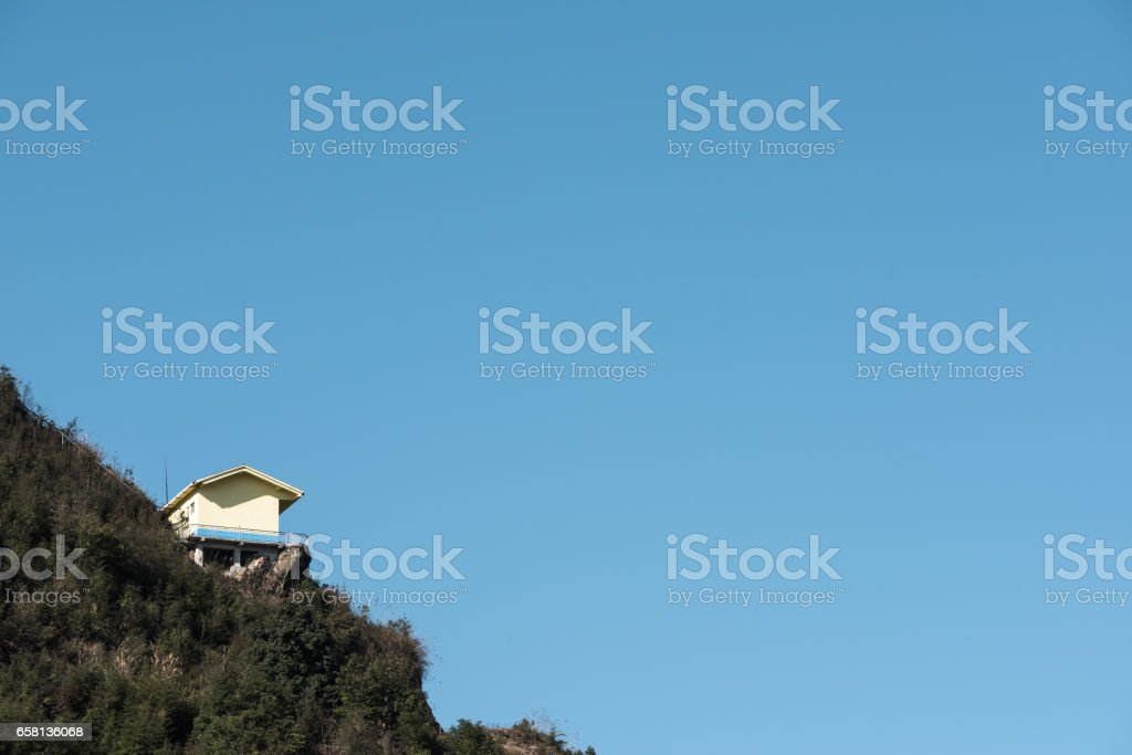 hut on the hill royalty-free stock photo