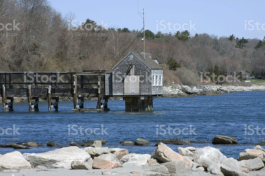 Hut on the water royalty-free stock photo