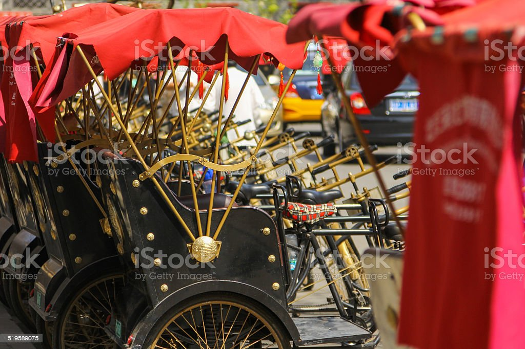 Hutong tricycle stock photo