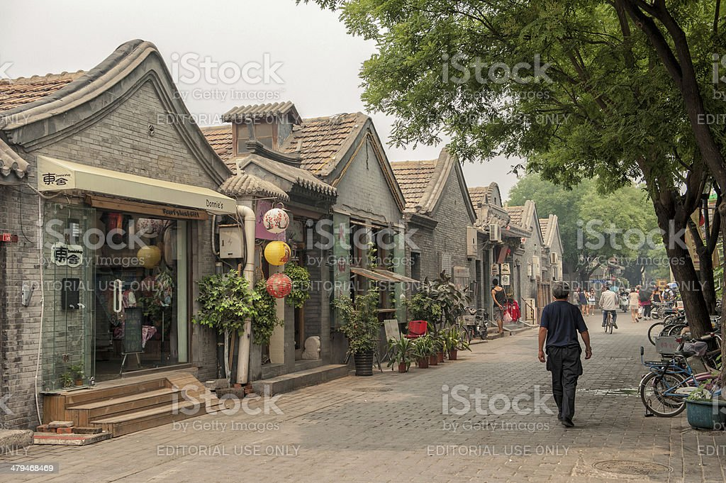 Hutongs of Beijing stock photo