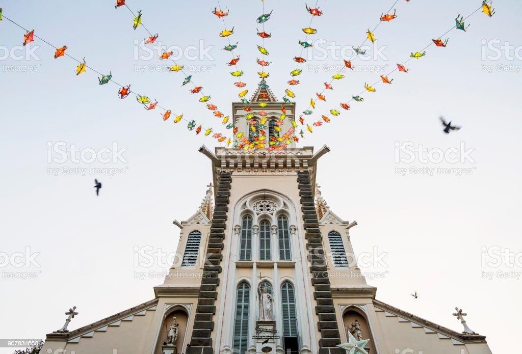Huyen Sy Church in Ho Chi Minh City, Vietnam stock photo