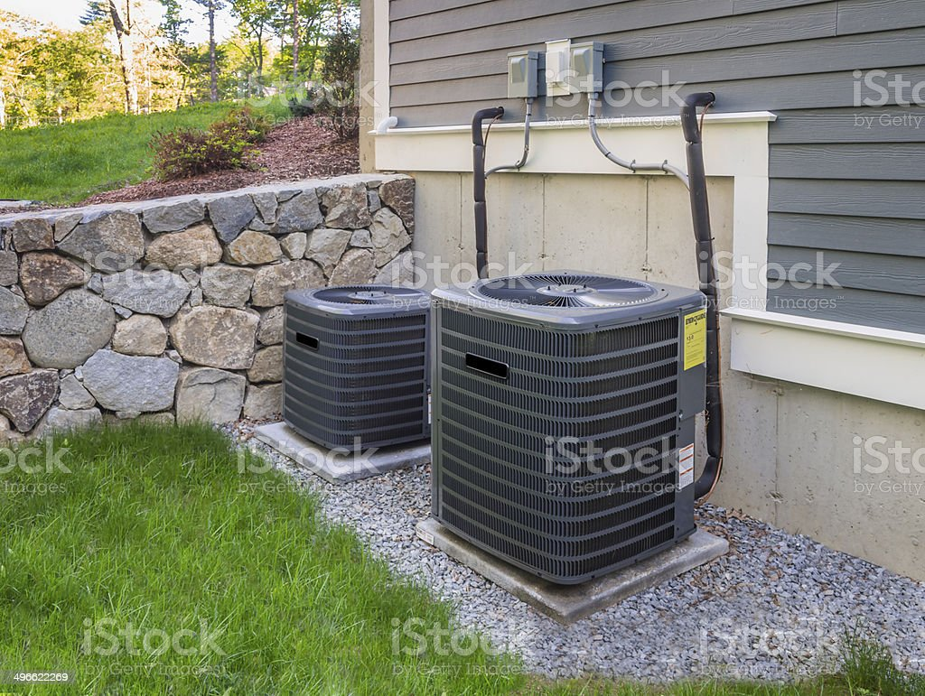 Hvac units stock photo