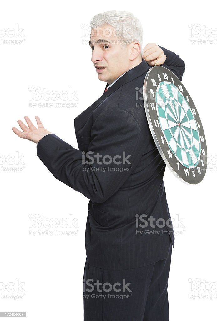 Hvaing a Target On your Back royalty-free stock photo